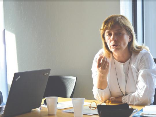 Nadine Crinier, directrice régionale Pôle Emploi.
