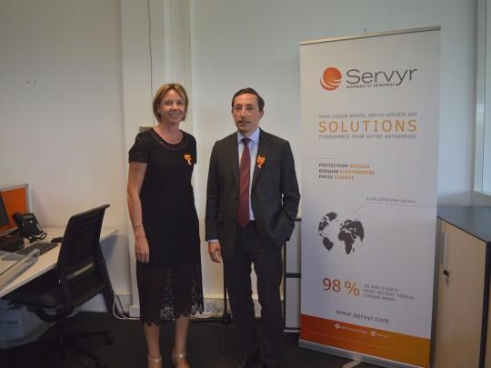 Valérie Roy, directrice de Servyr Nord, et Quentin Renard, président du groupe Servyr.