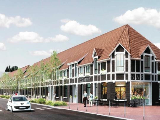 ci-dessus le projet de résidence hôtelière lancé par Maisons & Cités en face du Louvre Lens