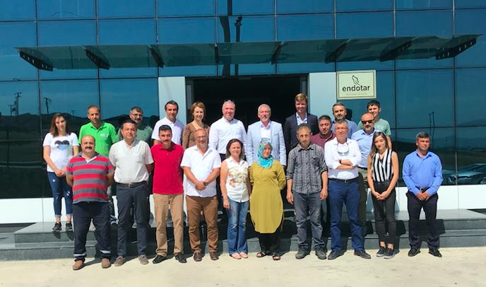 L'équipe d'Endotar, pme turque de 17 salariés