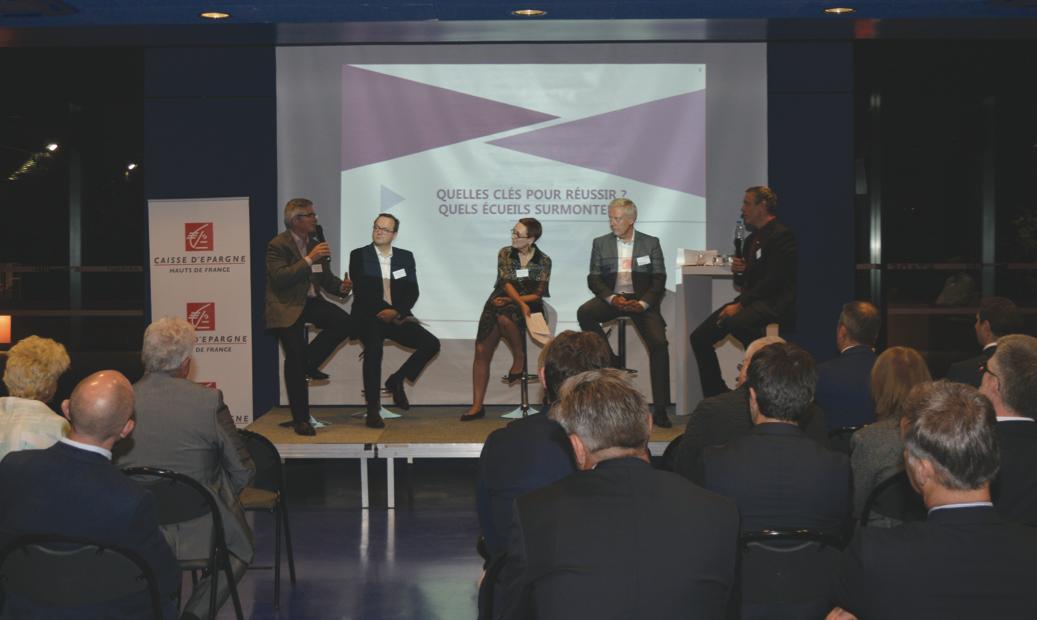 Thierry Gautier (Cevino Glass), Christophe Lesbroussart (Seibo), Isabelle Taranne (Cabinet BDL), Pascal Lefort (Caisse d'Épargne Hauts de France) et Olivier Ducuing (ECO121).