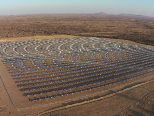 InnoVent a déployé plusieurs projets en Namibie dont cette ferme photovoltaïque