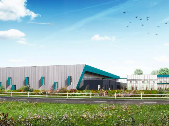 Le parc Artois Flandres accueille déjà 70 entreprises employant 5000 salariés. Ci dessus le projet Aquarese sur 8000 m2, qui s'accompagnera de 56 créations d'emplois