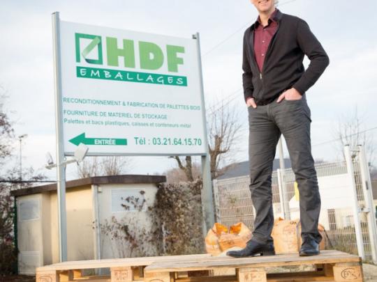 Gregory Leblan, dirigeant fondateur de HDF Emballages.