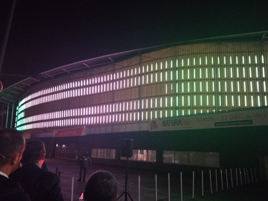 La nouvelle façade illuminée de Lille Grand Palais a été dévoilée le 29 novembre.