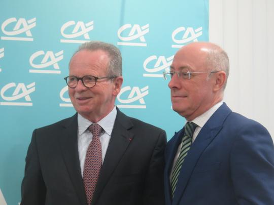 Bernard Pacory, président de la caisse régionale, et Christian Valette, le nouveau directeur général