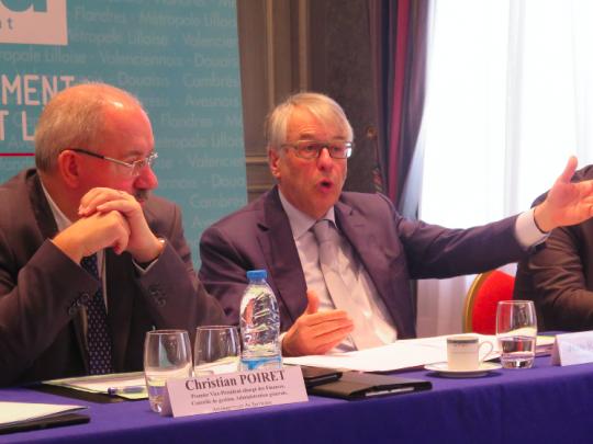 Christian Poiret, en charge du budget, et Jean-René Lecerf, président du Département du Nord