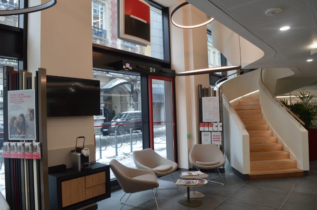 La Société Générale a ouvert mi-novembre sa nouvelle agence à l'angle des rues Nationale et Jean Roisin.