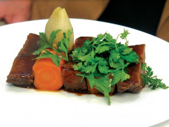 Le paleron d'Angus « façon bœuf carottes »