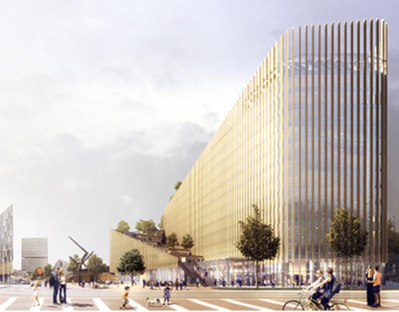 La Caisse d'Epargne Hauts-de-France multiplie aussi les investissements fonciers, avec 240 M€ d'actifs. Ici son futur siège, le ShaKe, à Euralille.