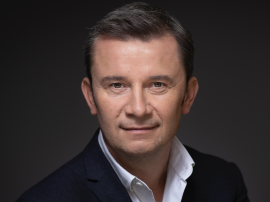 Christophe Levyfve, dirigeant du groupe de communication Netco Group.