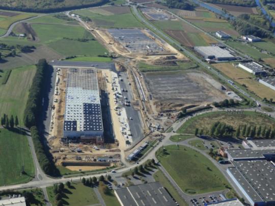 Photo aérienne du parc Artois Flandres de Douvrin