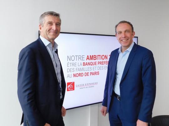 Philippe Lamblin, président du COS, et Laurent Roubin, président du directoire