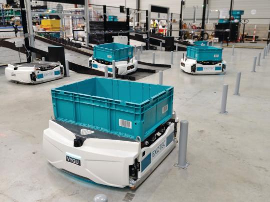 Exotec a ouvert une filiale à Atlanta pour déployer ses solutions robotiques en Amérique.
