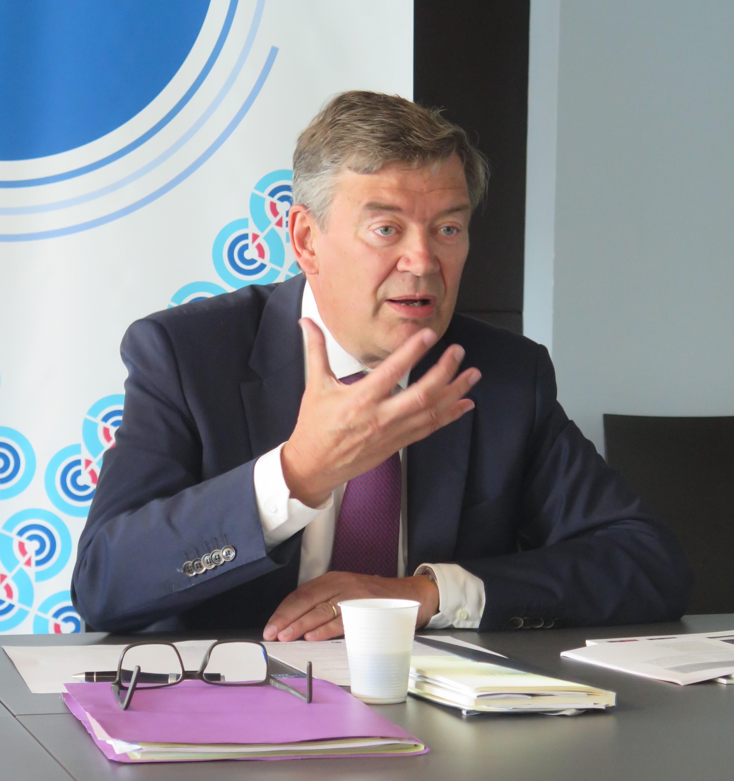 Philippe Hourdain, président de la CCI de Régionb