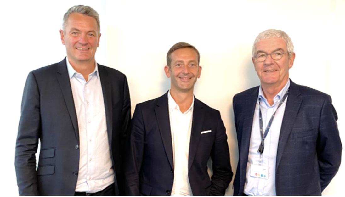 de g à d : Antoine Grolin, président de Projex, Jean-Philippe de Alzu,  président fondateur d'Elogia, Marc Grolin, président du conseil de surveillance de Projex
