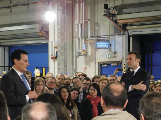 Le président de la République est venu à Dunkerque en marge du sommet Choose France pour saluer un investissement de 500 M$ du groupe AstraZeneca
