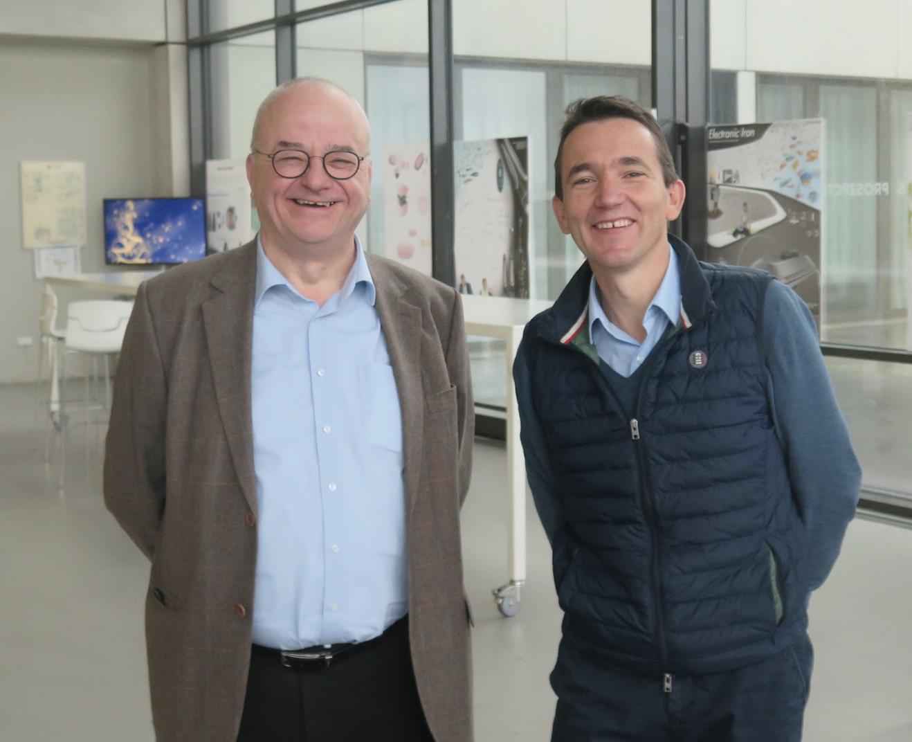 Bruno Fontaine, président de la CCI Grand Hainaut et de Rubika, et Stéphane André, directeur du groupement
