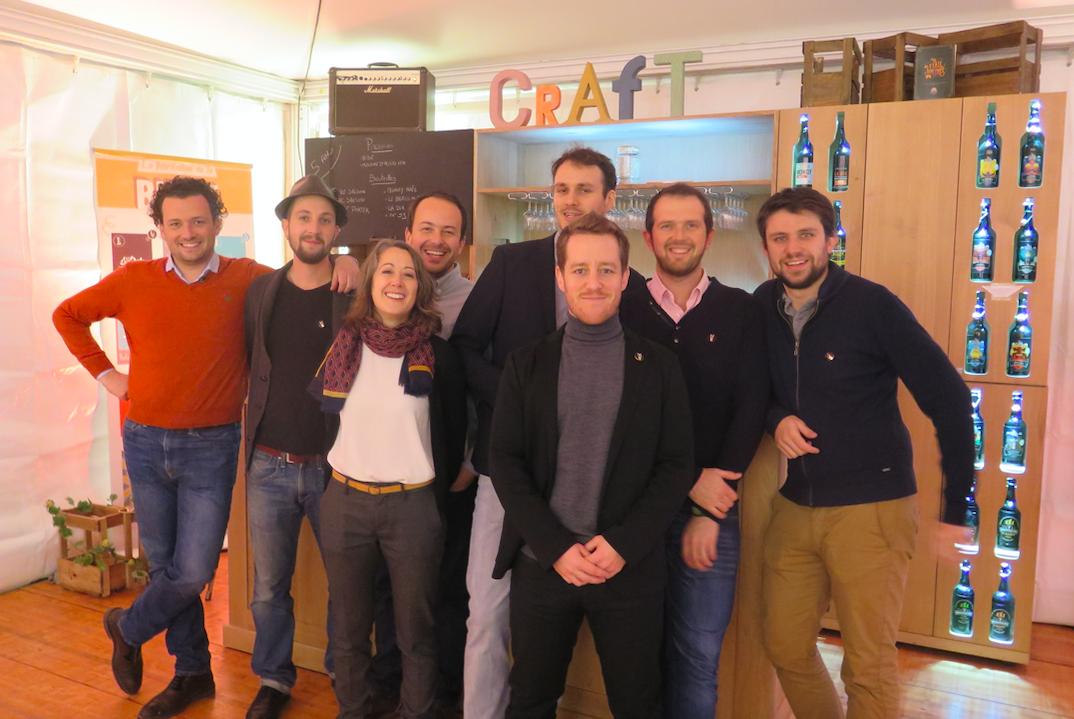 L'équipe de l'Echappée bière s'est réunie au complet à l'occasion de la fête des 5 ans de l'entreprise
